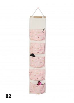 Big Pocket Wall Hanging Organizer  W/ Cat Print