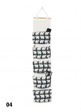 Big Pocket Wall Hanging Organizer  W/ Polar Bear Print