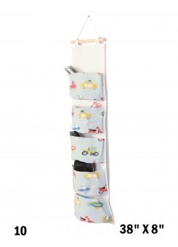 Big Pocket Wall Hanging Organizer  W/ Toy Cars Print
