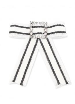 Grosgrain Stripe Bow Brooch