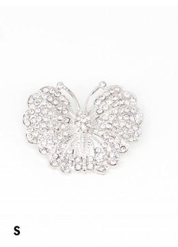 Butterfly Brooch With Rhinestone
