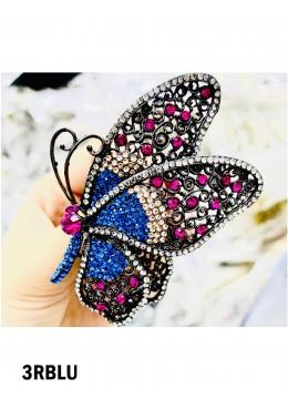 Rhinestone Butterfly Brooch