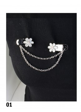 Clip On Flower Brooches