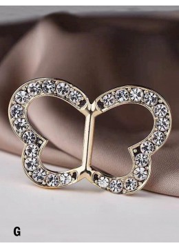 Multi Function Butterfly Rhinestone Clothing Ring