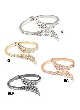 Rhinestone Wings Design Bangle