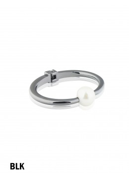 Solid Color Bangle With Pearl /Black