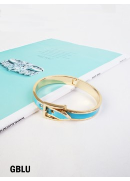 Belt Bangle /Gold Blue