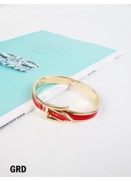 Belt Bangle /Gold Red