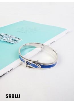 Belt Bangle /Silver Royal Blue