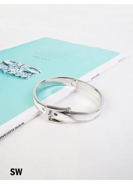 Belt Bangle /Silver White