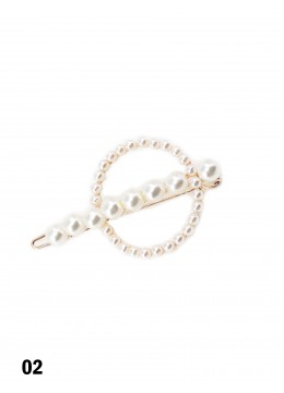 Circle Shaped Pearl Hair Clip