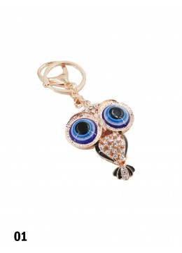 Jewelled Eye Owl Key Chain