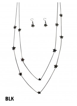 Star Beads Double Layers W/Earrings