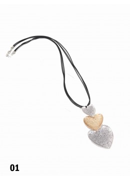 Rope Necklace W/ Winding Heart Pendant
