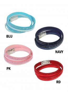 Multi Rhinestone Wrap Magnetic Bracelet