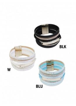 Rhinestone Wrap Magnetic Bracelet