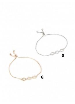 Adjustable Circle Rhinestone Stretch Bracelet