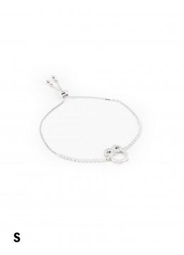 Adjustable Rhinestone Stretch Bracelet W/ Owl