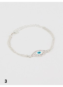 Evil Eye Stretch Bracelet with Rhinestones