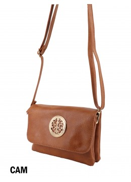 Miller Faux Leather Crossbody /Camel