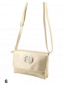 Miller Faux Leather Crossbody /Shimmer Gold