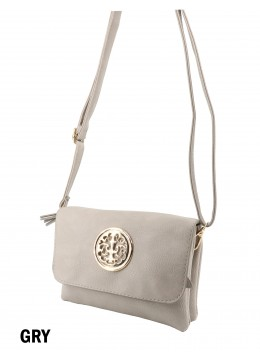 Miller Faux Leather Crossbody /Grey
