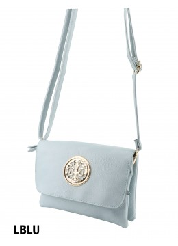Miller Faux Leather Crossbody /Light Blue