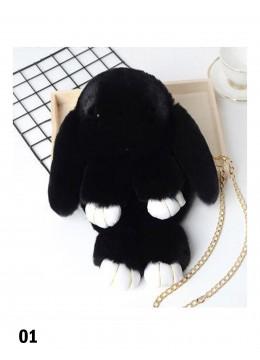 Cute Plush Bunny Bag /Black