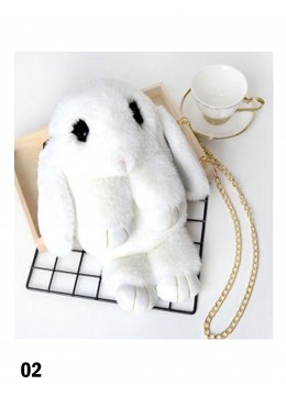 Cute Plush Bunny Bag /White