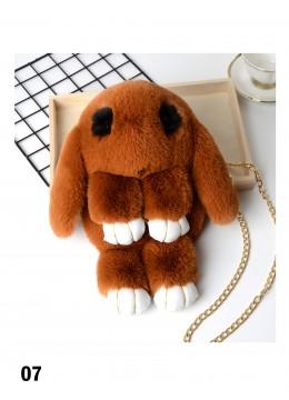 Cute Plush Bunny Bag /Brown
