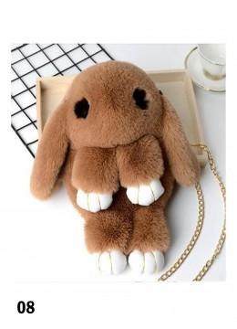 Cute Plush Bunny Bag /Taupe