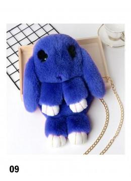 Cute Plush Bunny Bag /Royal Blue