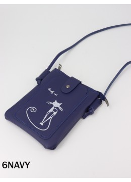 Kitty Print Cross body Mini Purse