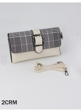 Plaid Mini Purse with Buckle Detailing