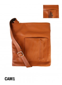 Crossbody Pocket Satchel / Camel1
