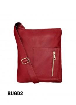 Crossbody Pocket Satchel / Burgundy