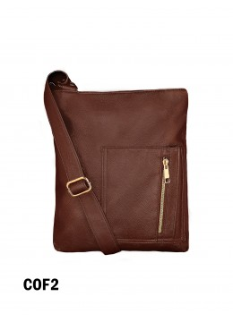 Crossbody Pocket Satchel / Coffee