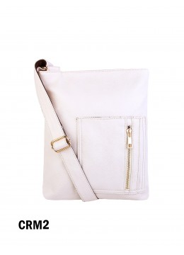 Crossbody Pocket Satchel / Cream