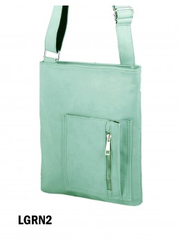 Crossbody Pocket Satchel / Light Green
