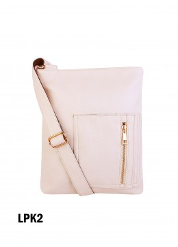 Crossbody Pocket Satchel / Light Pink