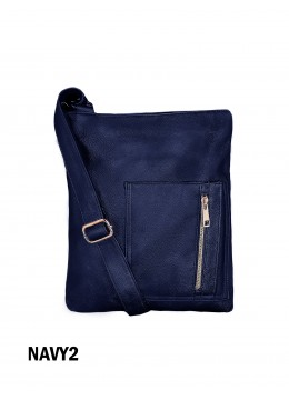 Crossbody Pocket Satchel / Navy
