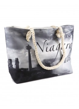 Canvas Niagara Falls Shoulder Tote