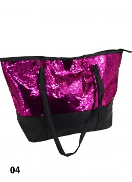 "Glittering Sequin ""Color Changing"" Shoulder Bag /Rose & Silver"