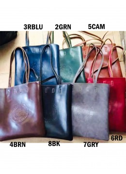 Solid Colour Glossy PU Tote Bag