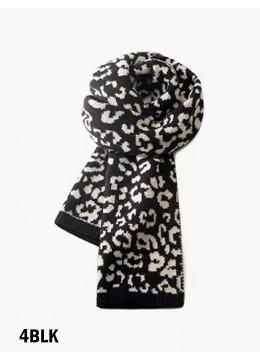 Soft Leopard Print Blanket Scarf