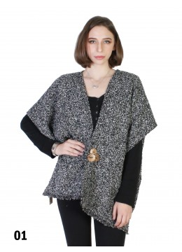 Two Tone Cape w/ Buttons