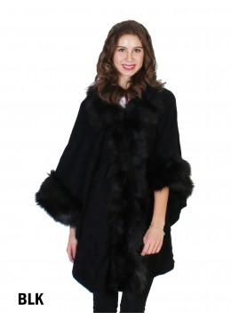 Premium Faux Fur Fashion Cape