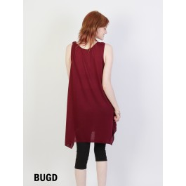Solid Color Fashion Top /Burgundy