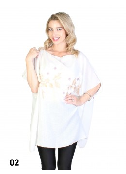 Flower Embroidery Top /White