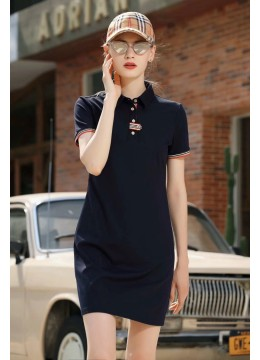 Solid Colour Tee Dress /Navy